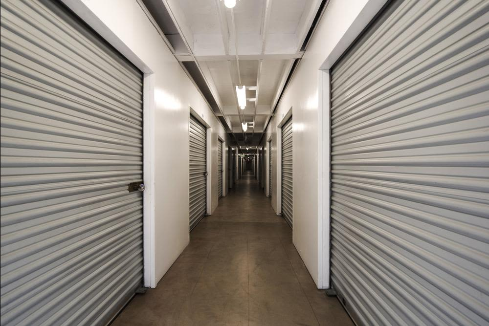 Interior storage units at Mira Mesa Self Storage in San Diego, CA