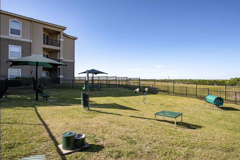 Exterior view of The Gates at Buffalo Ridge Apartments in Haltom City, Texas