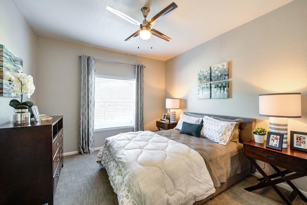 Beautiful master room at The Gates at Buffalo Ridge Apartments in Haltom City, Texas