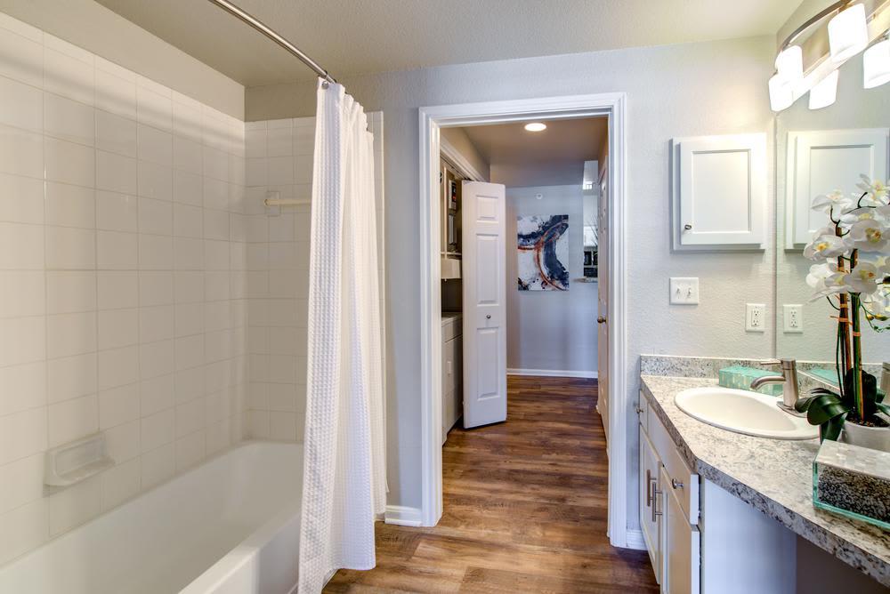 Bathroom at The Gates at Buffalo Ridge Apartments in Haltom City, Texas