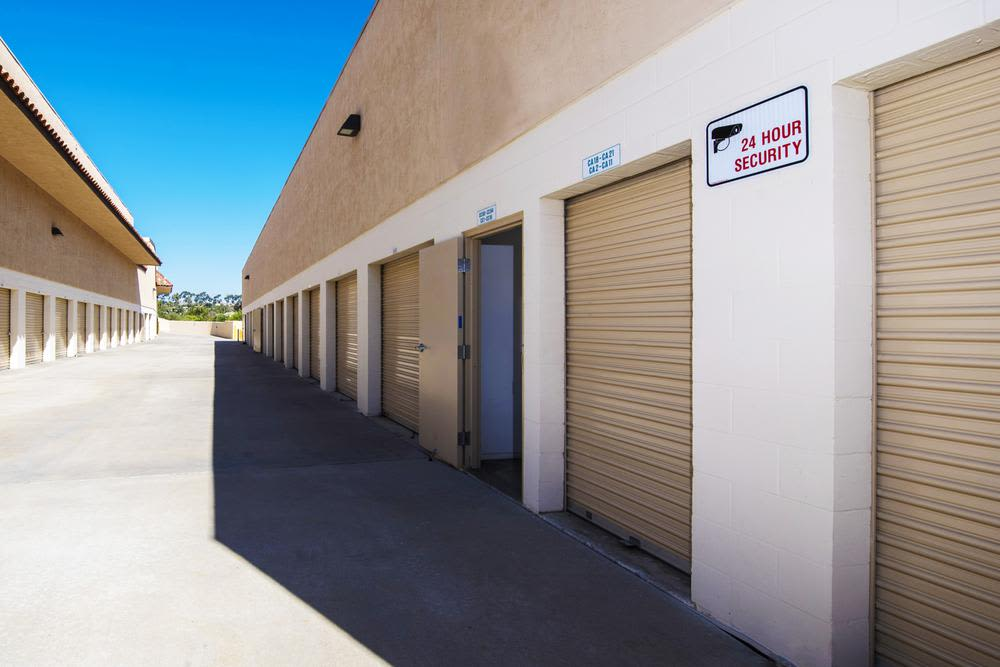 Large access driveways at Encinitas Self Storage in Encinitas, CA