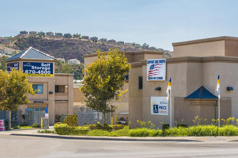 Aerial view of Jamacha Point Self Storage in Spring Valley, California