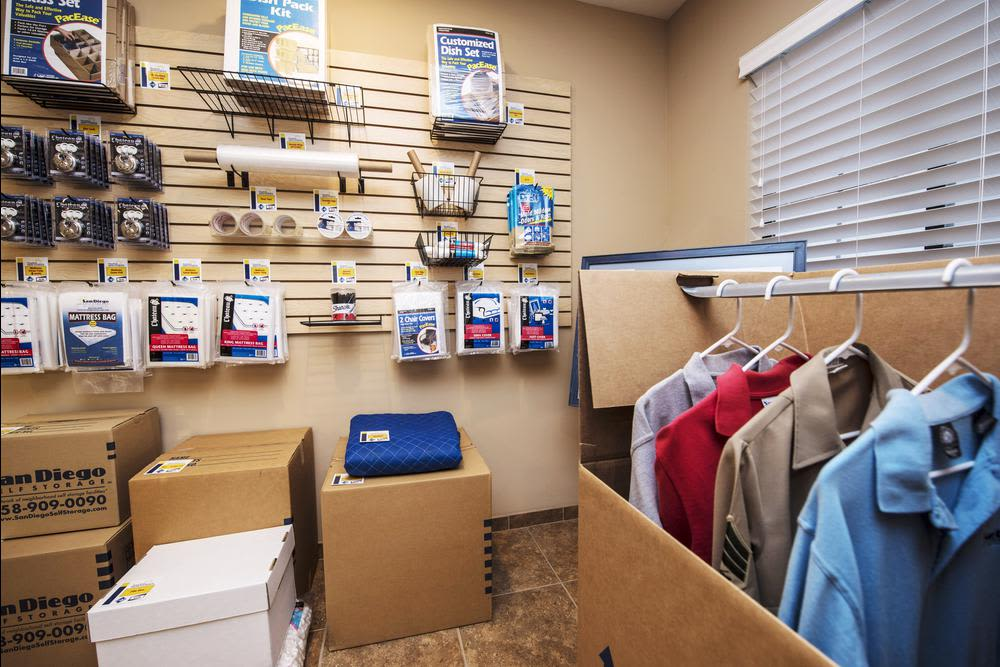 Poway Road Mini Storage is a one-stop shop for all of your packing supply needs