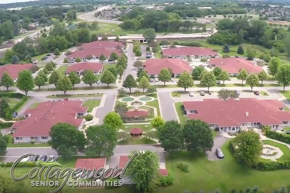 Drone View of Cottagewood Senior Communities