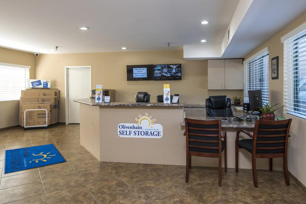 Come see us in the office at Olivenhain Self Storage for all of your packing supplies.