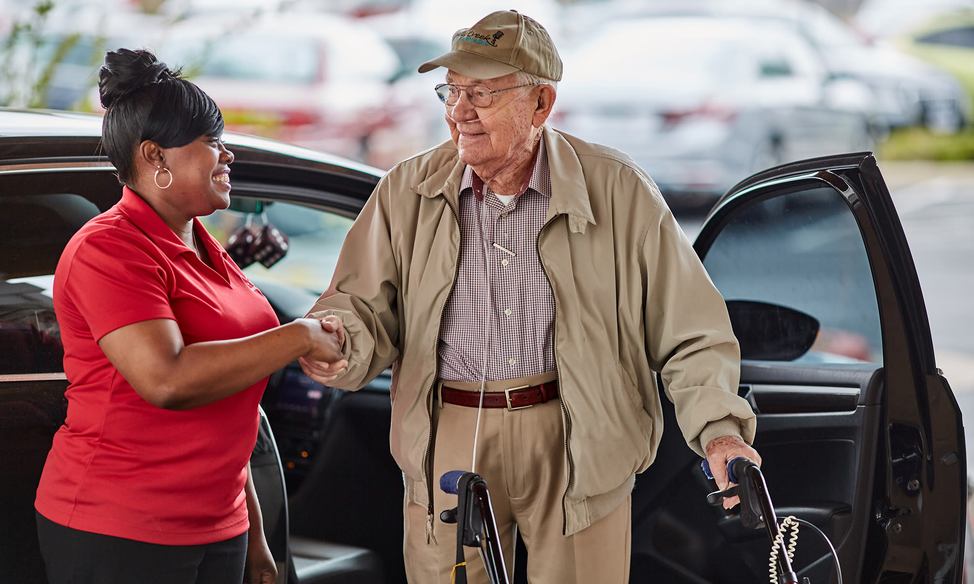 Rhythms Home Care services include transportation