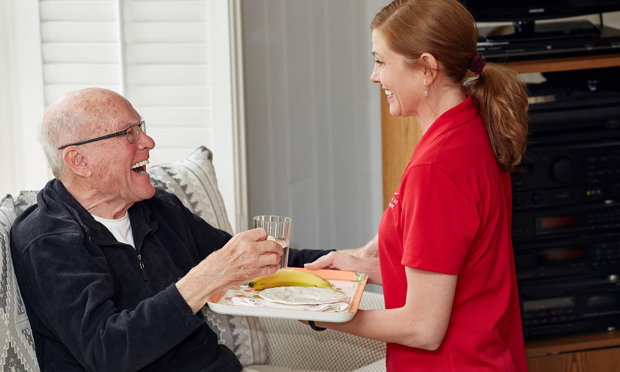 Rhythms Home Care services include dining assistance