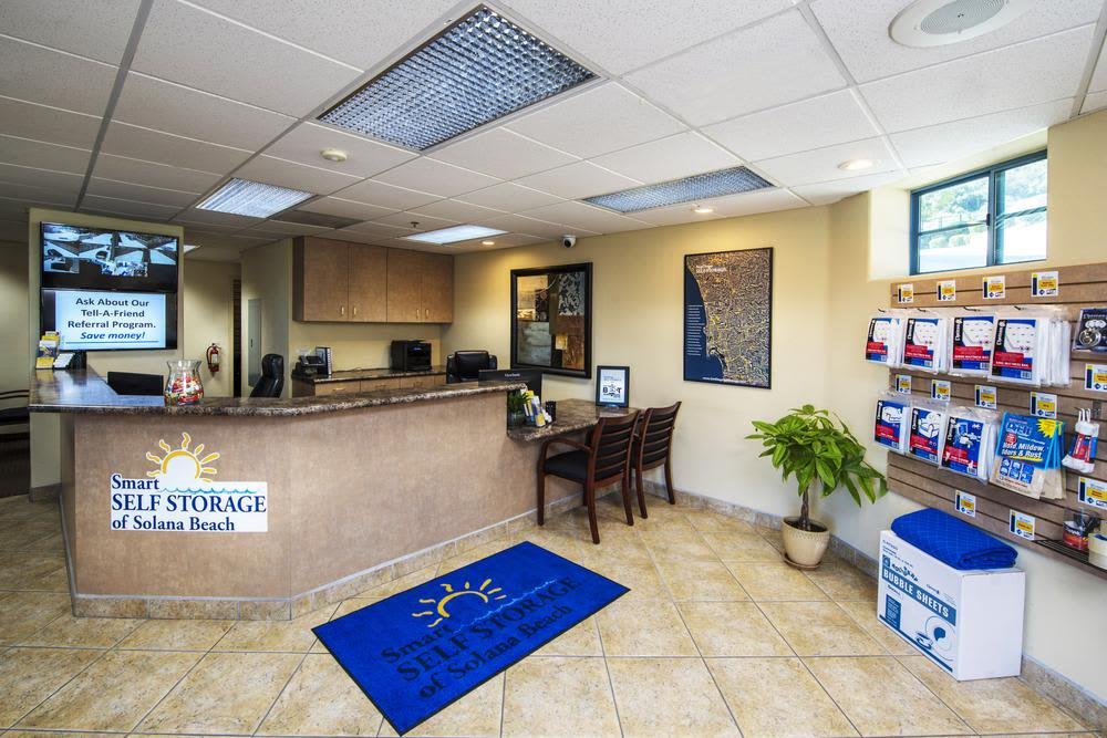 Come see us in the office at Smart Self Storage of Solana Beach for solutions to all your self storage questions in Solana Beach.