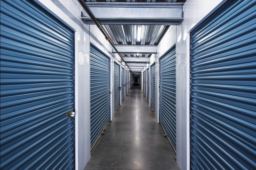 Interior self storage units at Smart Self Storage of Solana Beach