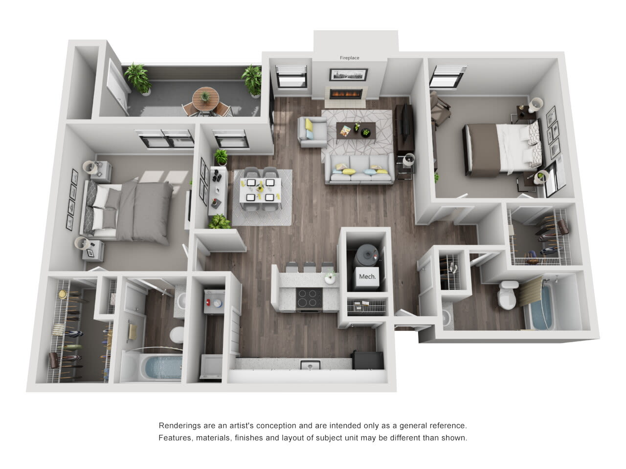 B3 2 bed 2 bath at The Alcove