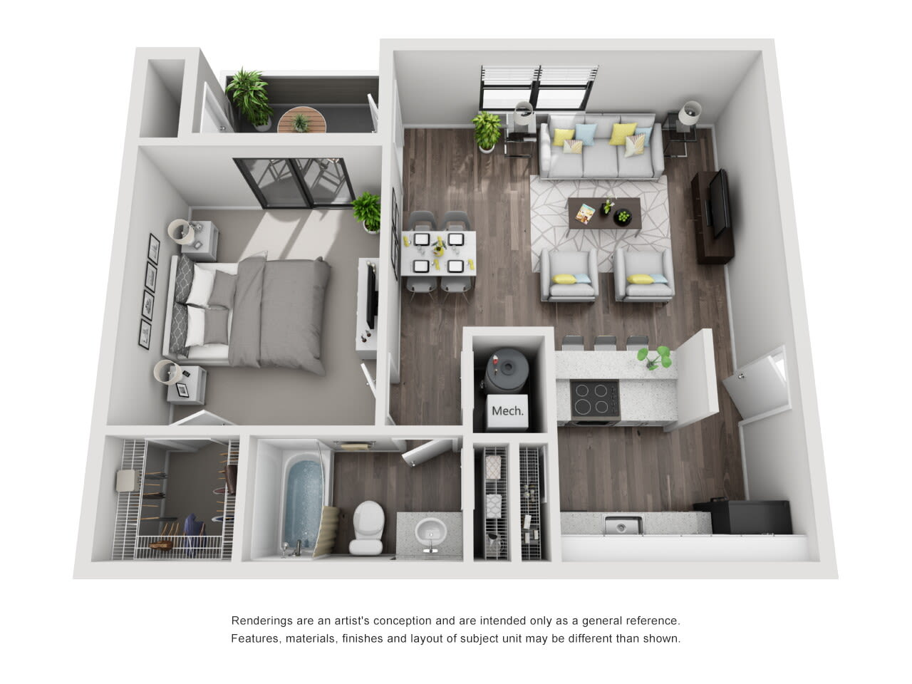 A1 1 bed 1 bath at The Alcove