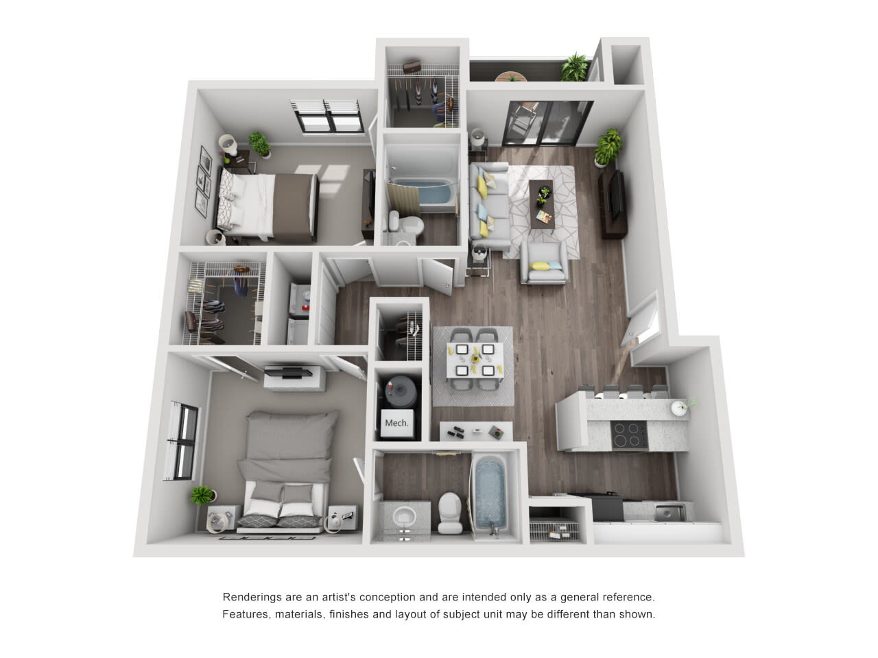 B2 2 bed 2 bath at The Alcove