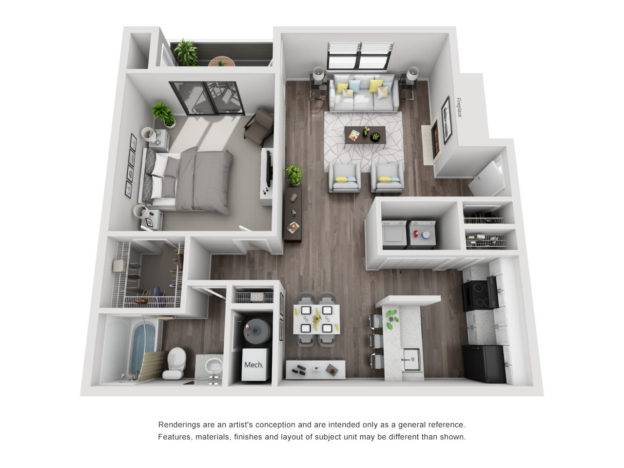 A5 1 bed 1 bath at The Alcove