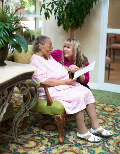 Assisted Living resident at Emerald Court in Anaheim