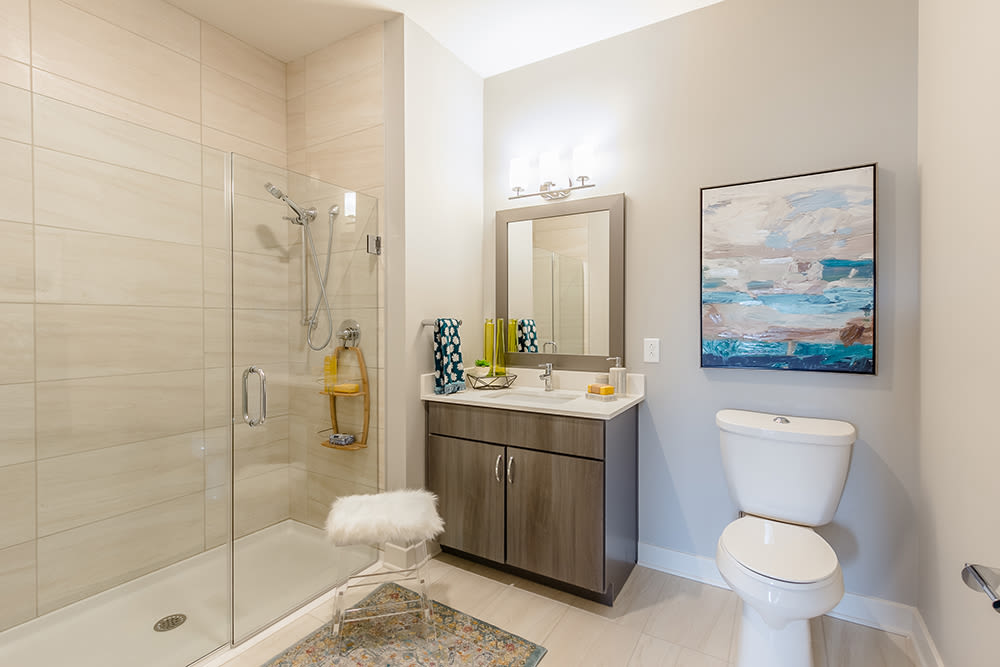 Bathroom at Ellison Heights Apartments in Rochester, New York