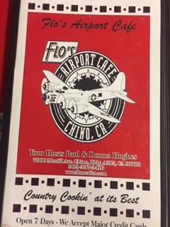 Flo's Airport Cafe Menu