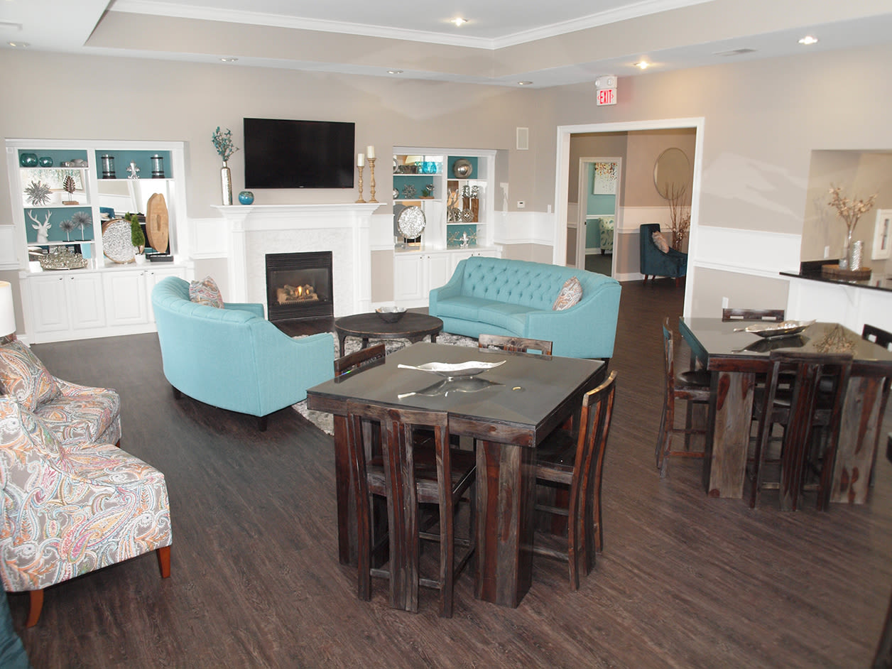 Clubhouse community space at Shadow Ridge in Louisville, Kentucky