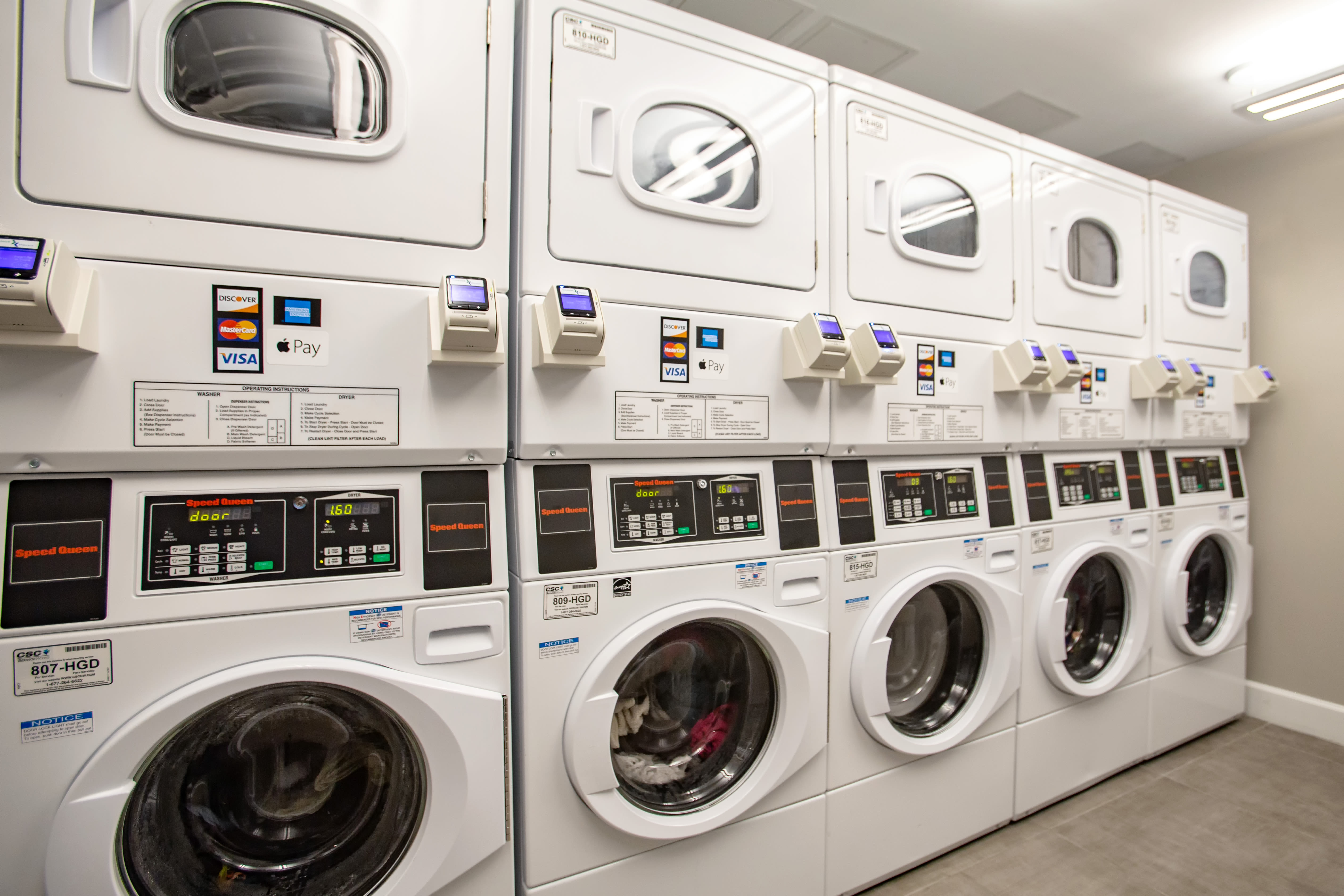 Laundry facility for resident use on site at Aliro Apartments in North Miami, FL