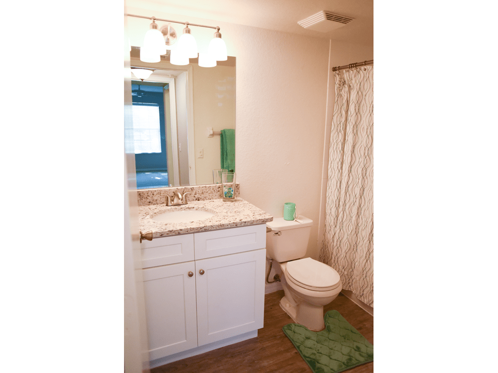 Bright bathroom at Meadow Brook Preserve in Naples, FL