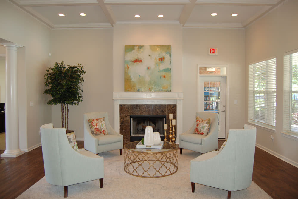 Community lounge at The Village at Westlake Apartment Homes in Shreveport
