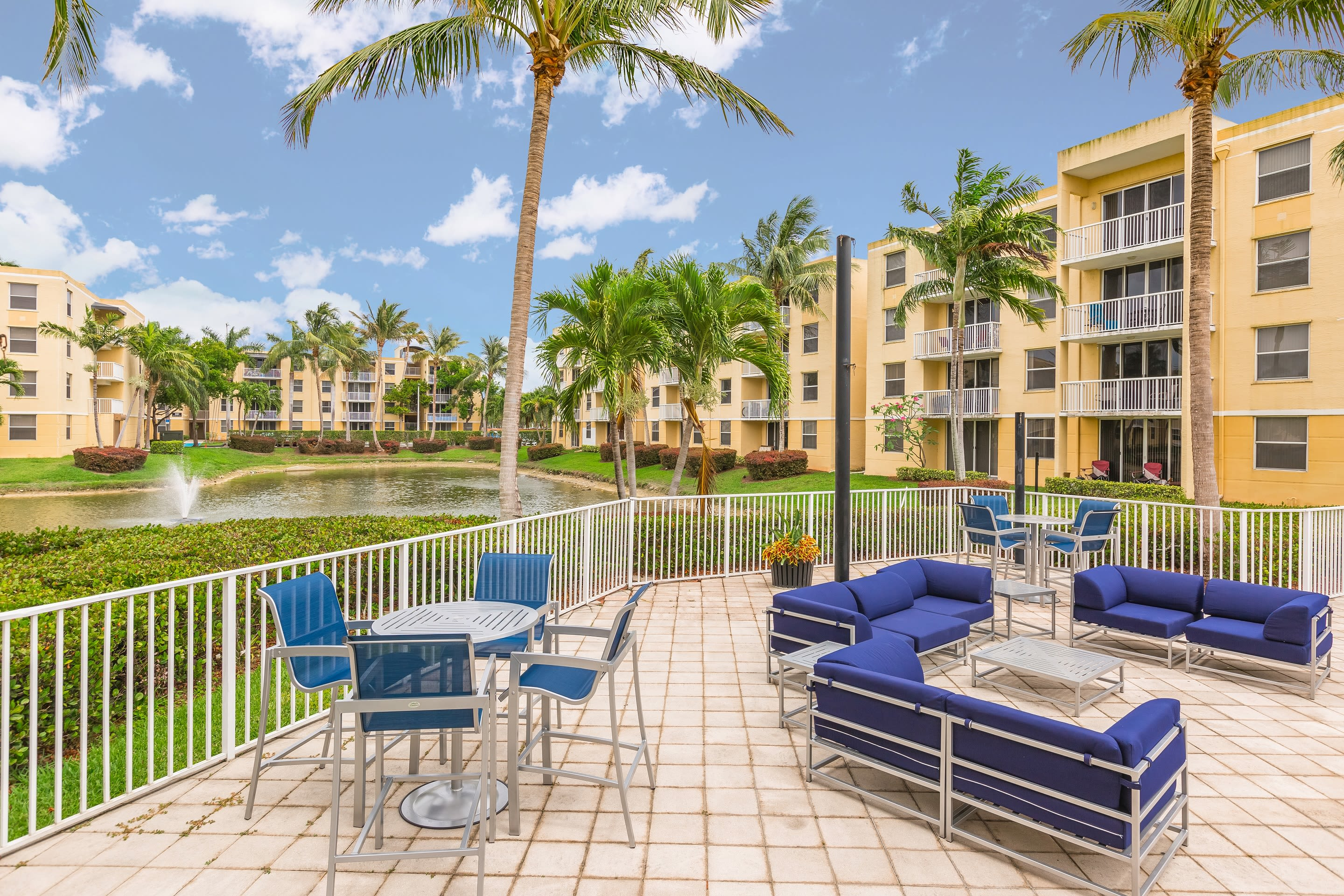 Luxurious amenities at Beach Walk at Sheridan include an amazing pool