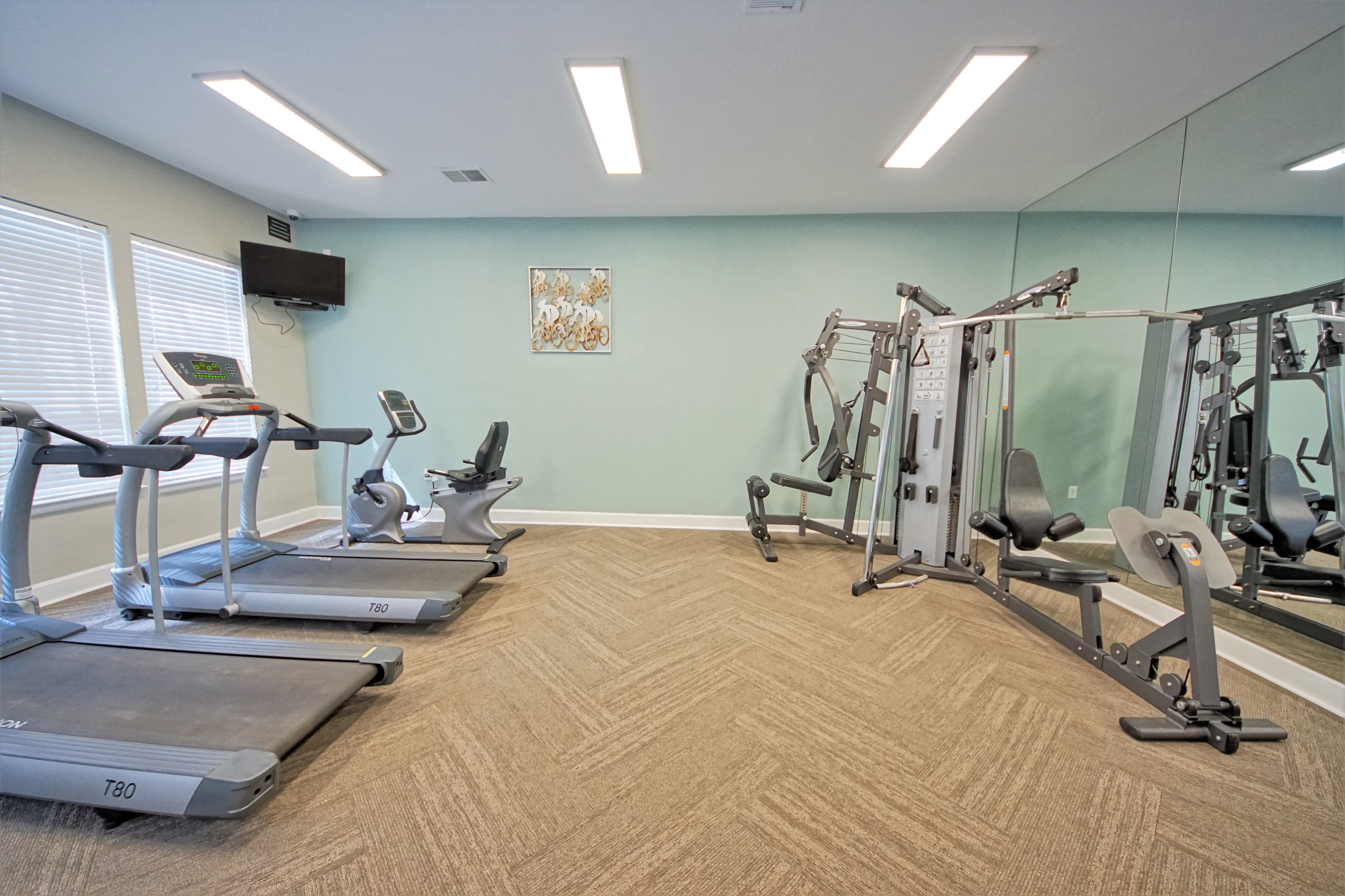 Fitness Center at Reserve at Centerra Apartment Townhomes