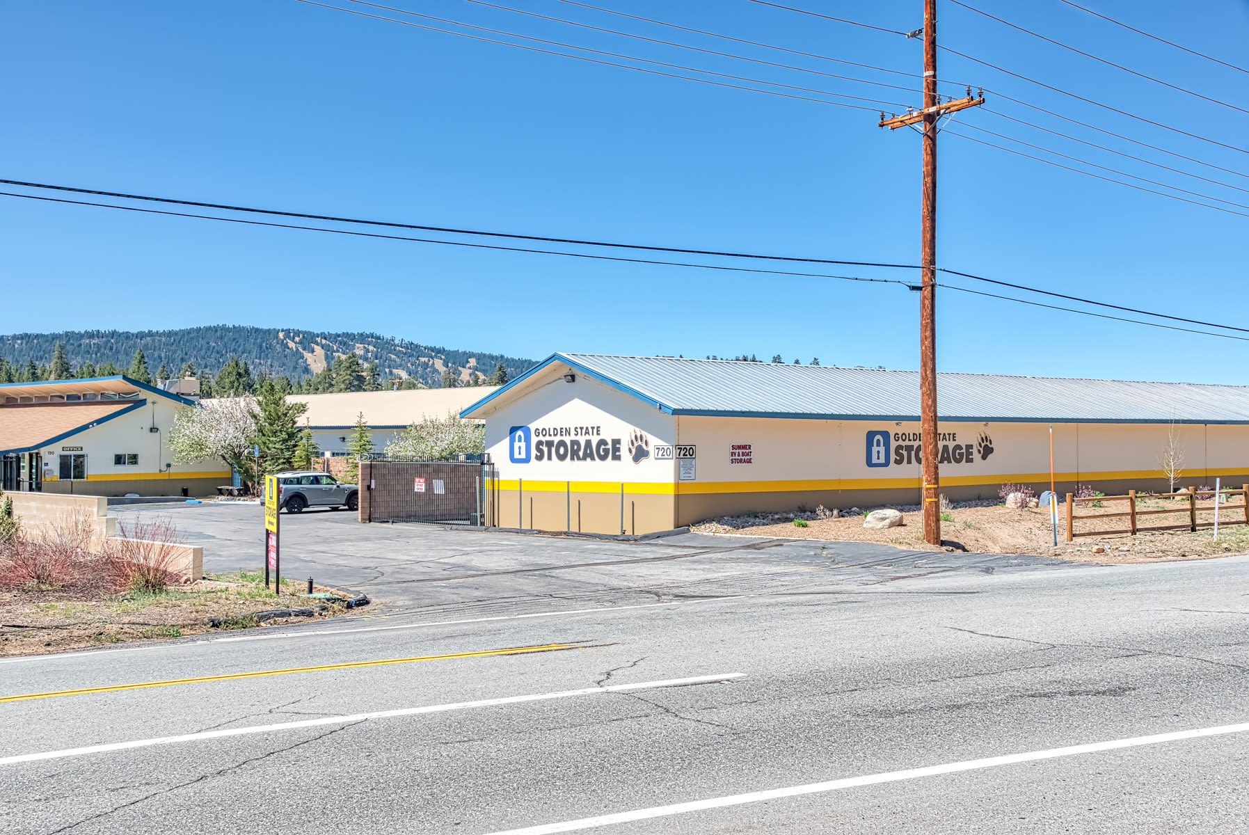 Street view of our Storage Facility in Big Bear