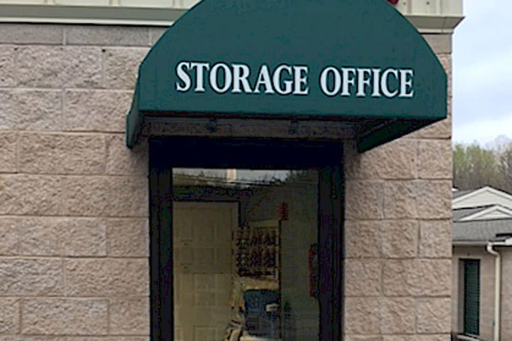Front door at Self Storage of Cheshire in Cheshire, Connecticut