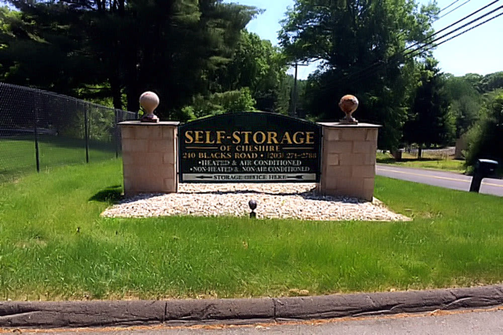 Sign at Self Storage of Cheshire in Cheshire, Connecticut