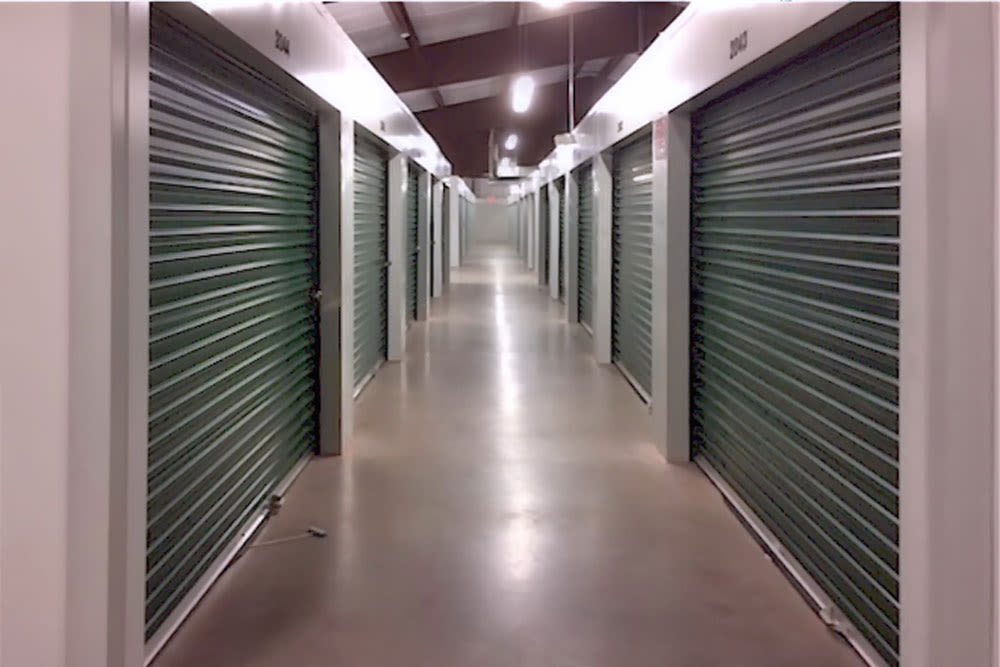 Hallway at  Self Storage of Cheshire in Cheshire, Connecticut