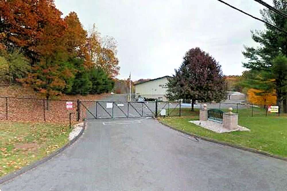 Gated entrance at Self Storage of Cheshire in Cheshire, Connecticut