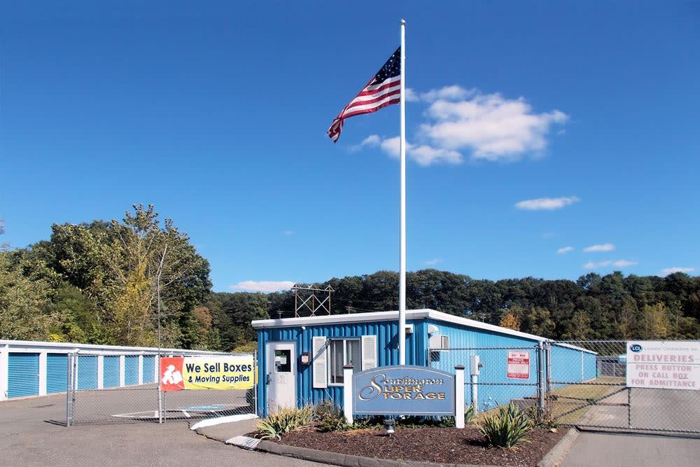 Flag pole at Southington Super Storage in Plantsville, CT