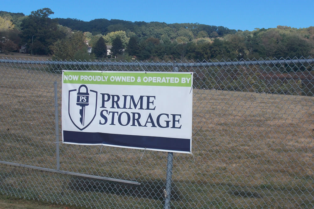 Sign at Southington Super Storage in Plantsville, CT