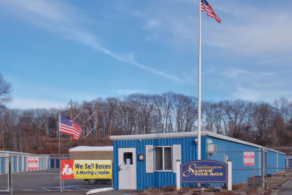 Exterior image of Southington Super Storage in Plantsville, CT
