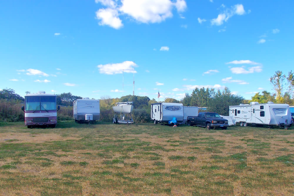 Uncovered RV storage at Southington Super Storage in Plantsville, CT