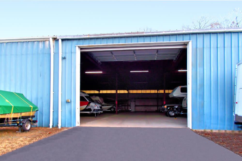 Indoor RV storage at Southington Super Storage in Plantsville, CT