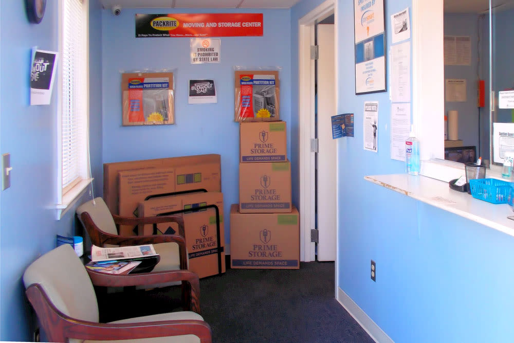 Leasing office at Southington Super Storage in Plantsville, CT