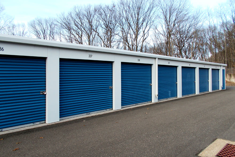 Drive-up units at Southington Super Storage in Plantsville, CT