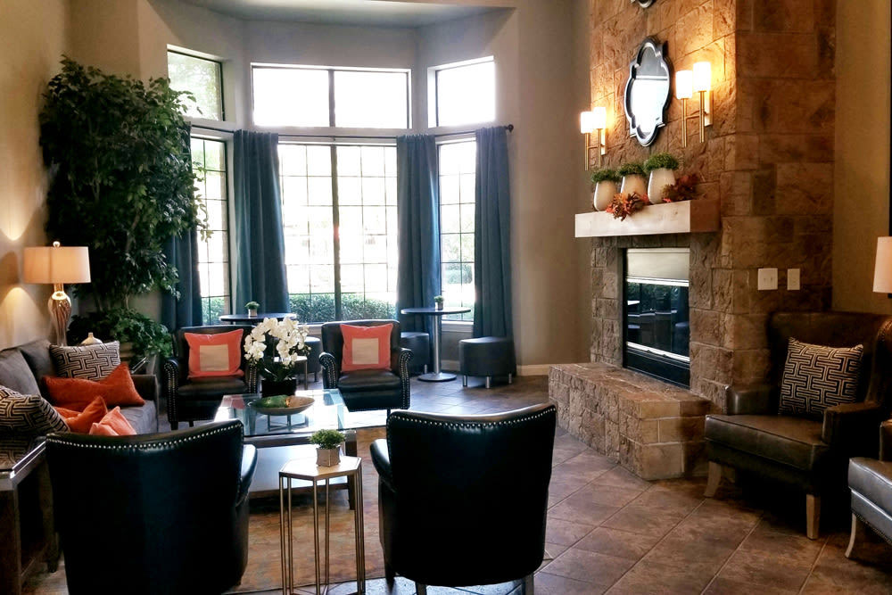 Clubhouse at The Abbey at Hightower in North Richland Hills, TX
