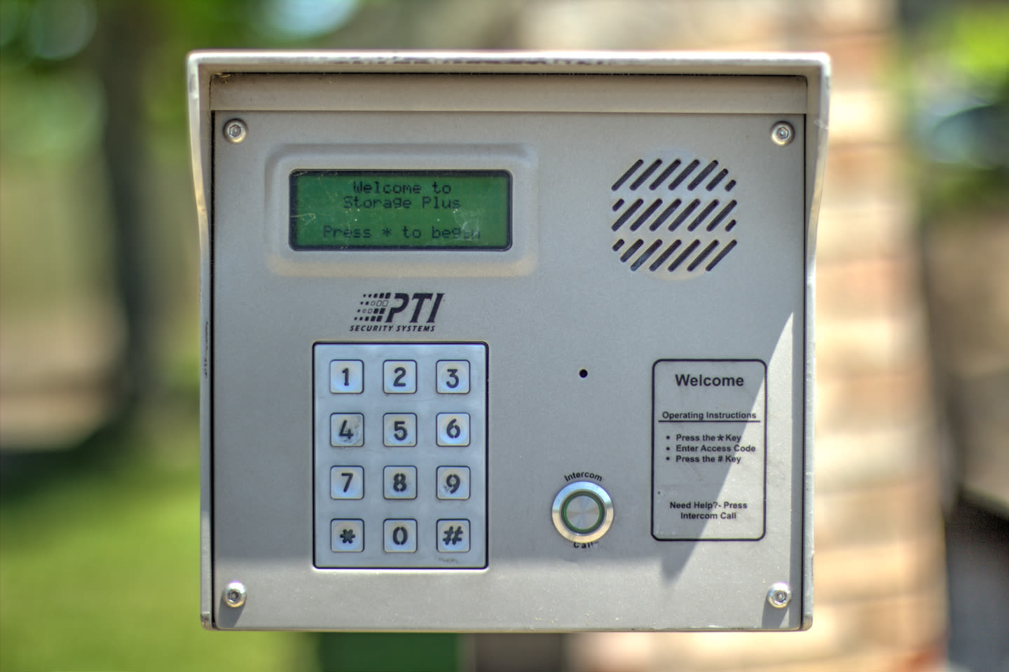 Security key pad at  Prime Storage in Louisville, Kentucky