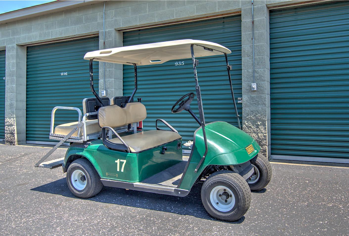 Golf cart at  Prime Storage in Louisville, Kentucky