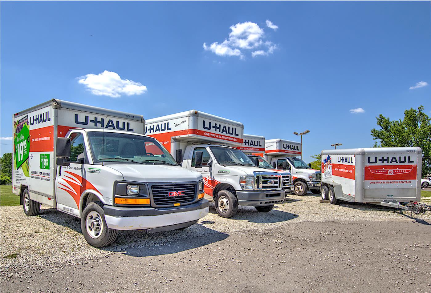 Rental trucks at  Prime Storage in Louisville, Kentucky