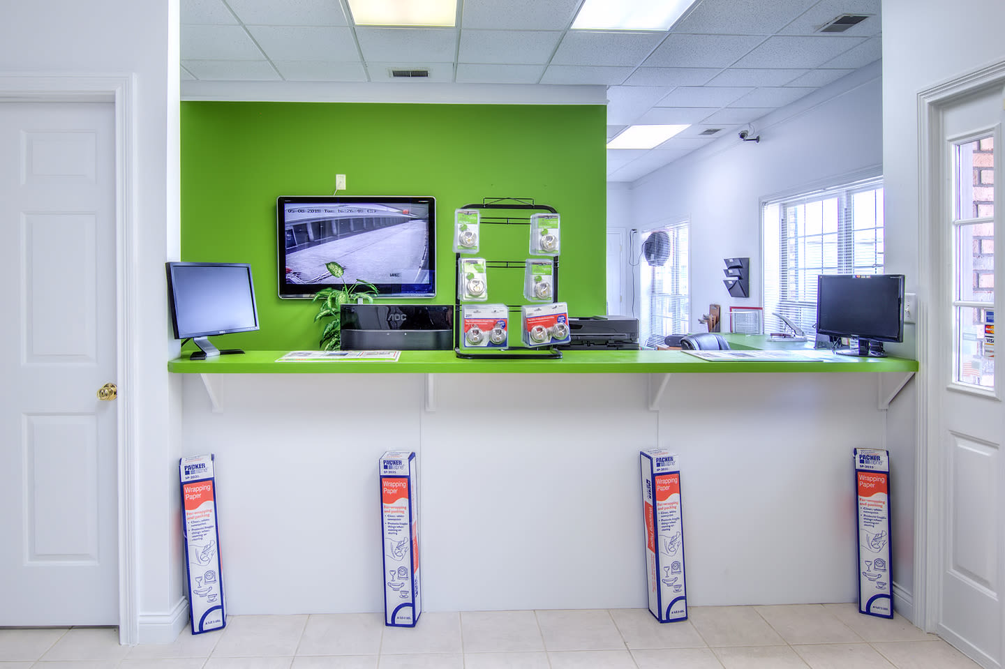 Front desk at Prime Storage in Louisville, Kentucky