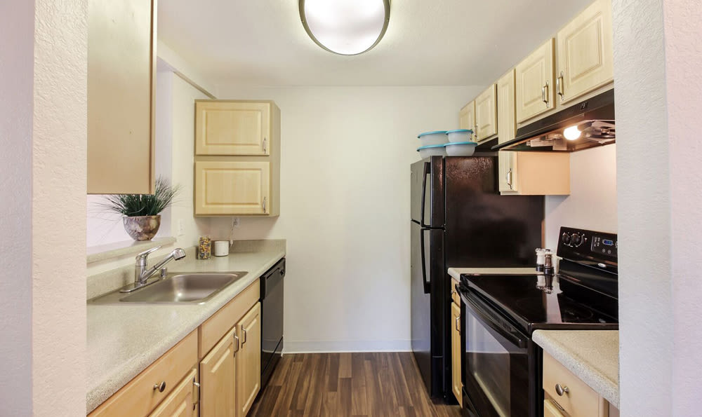 Kitchen in apartment at Mountlake Terrace, Washington