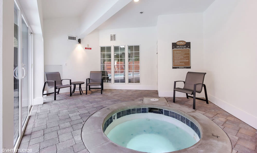 Beautiful hot tub at Maple Glen Apartments in Mountlake Terrace, Washington
