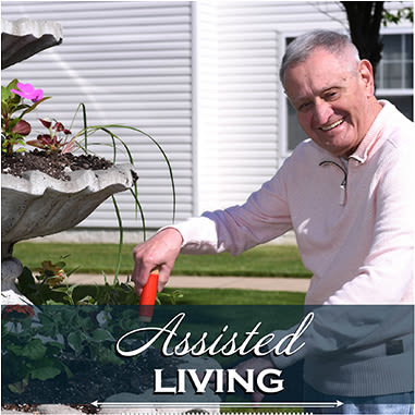 Assisted living resident at Mattison Crossing at Manalapan Avenue