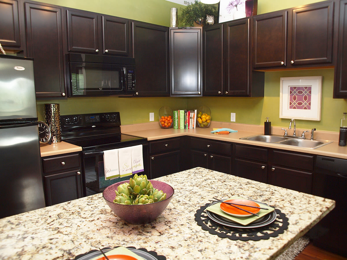 Kitchen at Palmera Apartments