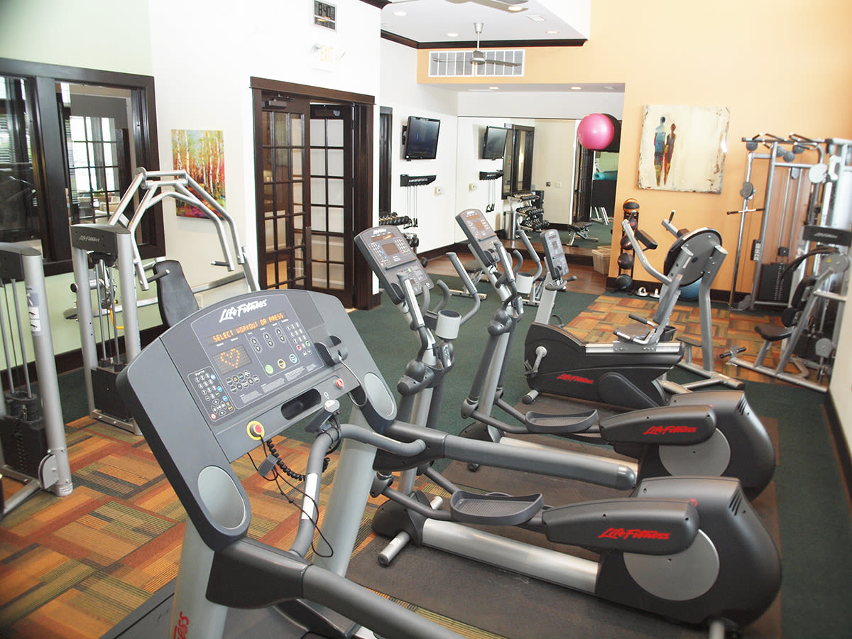 Fitness center at Palmera Apartments in Mason, Ohio