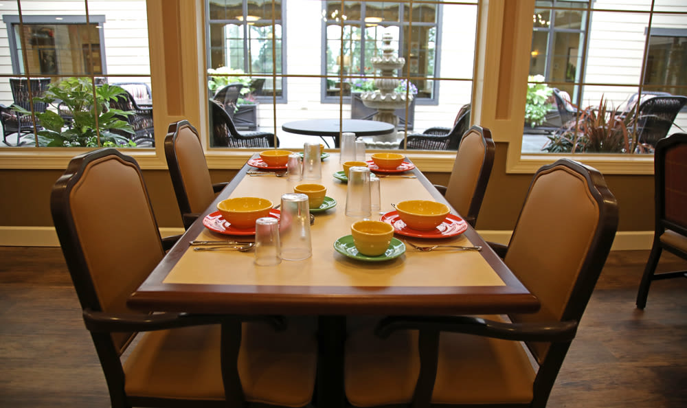Third Floor Dining Room Inside of Our Senior Living Community In Edmonds