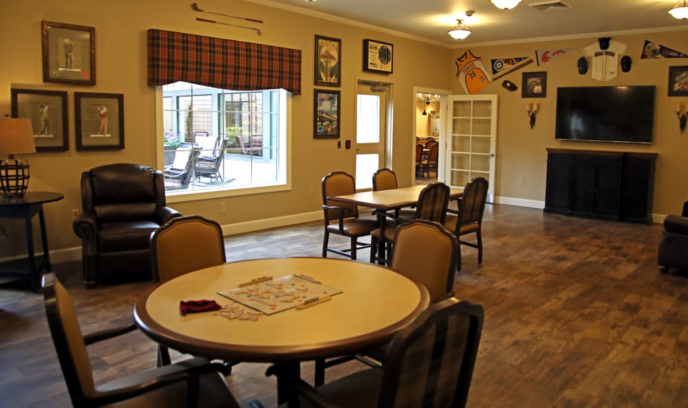 Game Room Inside of Our Senior Living Community In Edmonds